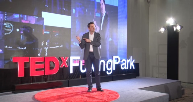 Professor Ben Murdin's TED talk 'How to time travel' is delivered at Shanghai Expo