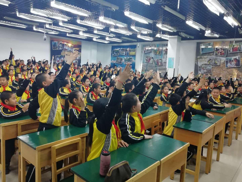 Nicole was presenting in a primary school in Urumqi